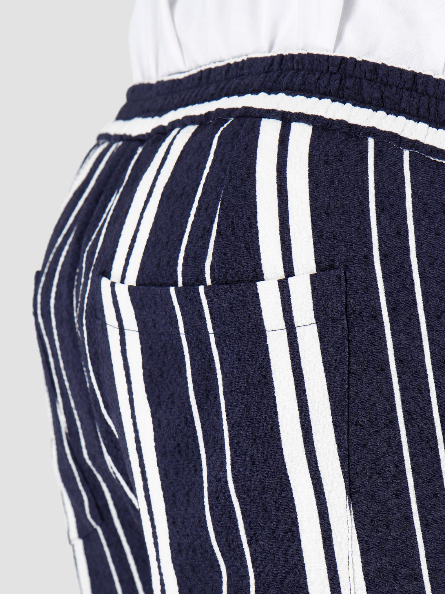 Libertine Libertine Libertine Libertine Front Shorts Off White W Navy Stripe 1621