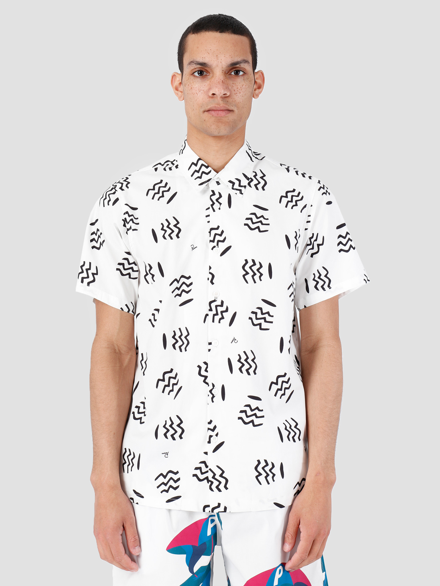 By Parra By Parra Camp Collar Shirt Vases White 42280