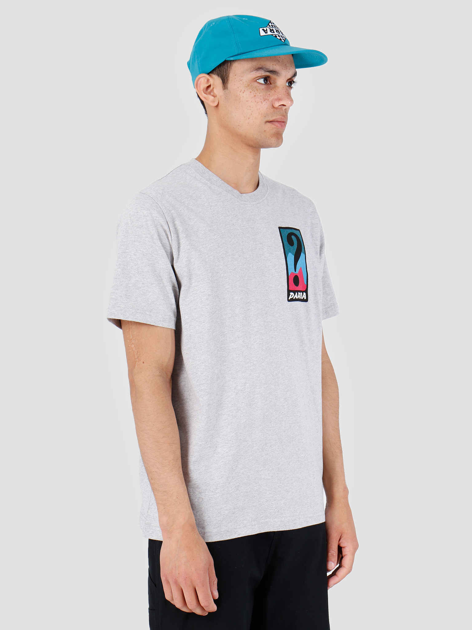 By Parra By Parra T-Shirt Indy Tuck Knee Ash Gray 42510