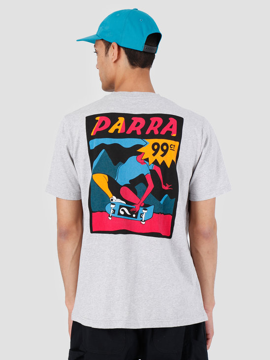 By Parra T-Shirt Indy Tuck Knee Ash Gray 42510