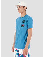 By Parra By Parra T-Shirt Indy Tuck Knee Slate Blue 42520
