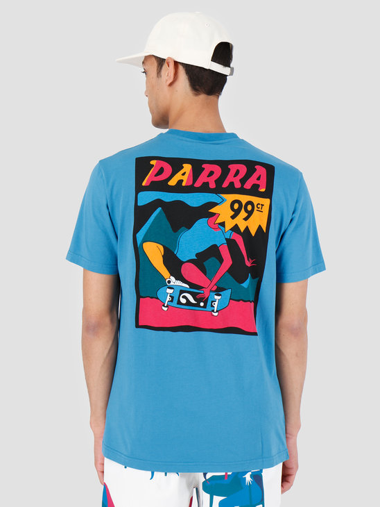 By Parra T-Shirt Indy Tuck Knee Slate Blue 42520