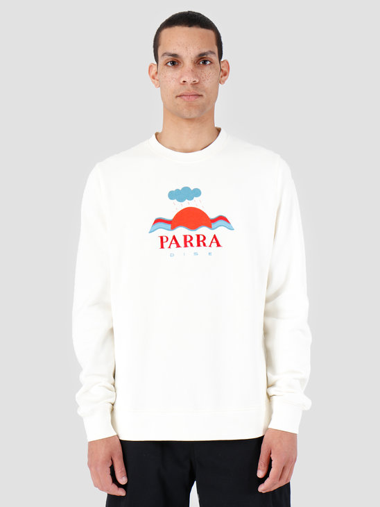 By Parra Crew Neck Sweater Parra Dise Natural 42530
