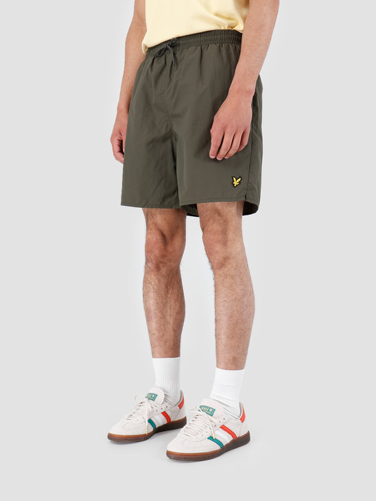 Lyle and Scott Plain Swim Short 028 Dark Sage SH806V