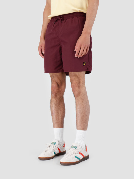 Lyle and Scott Plain Swim Short 865 Burgundy SH806V