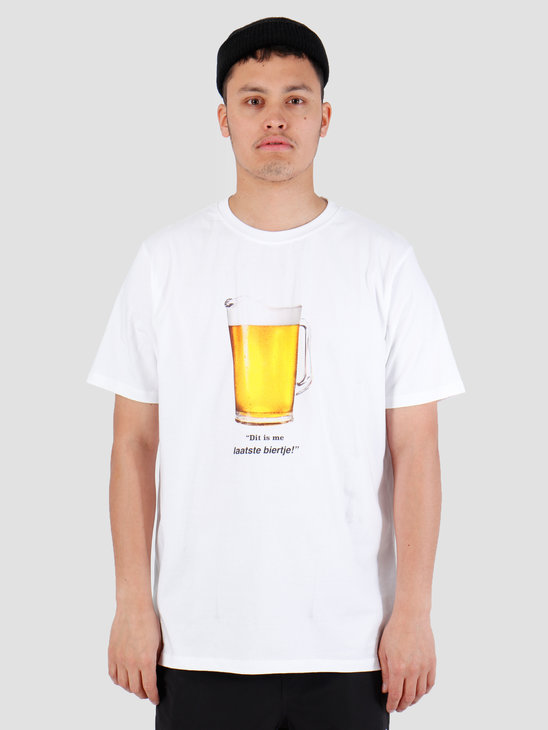 FreshCotton Laatste Biertje T-Shirt Wit