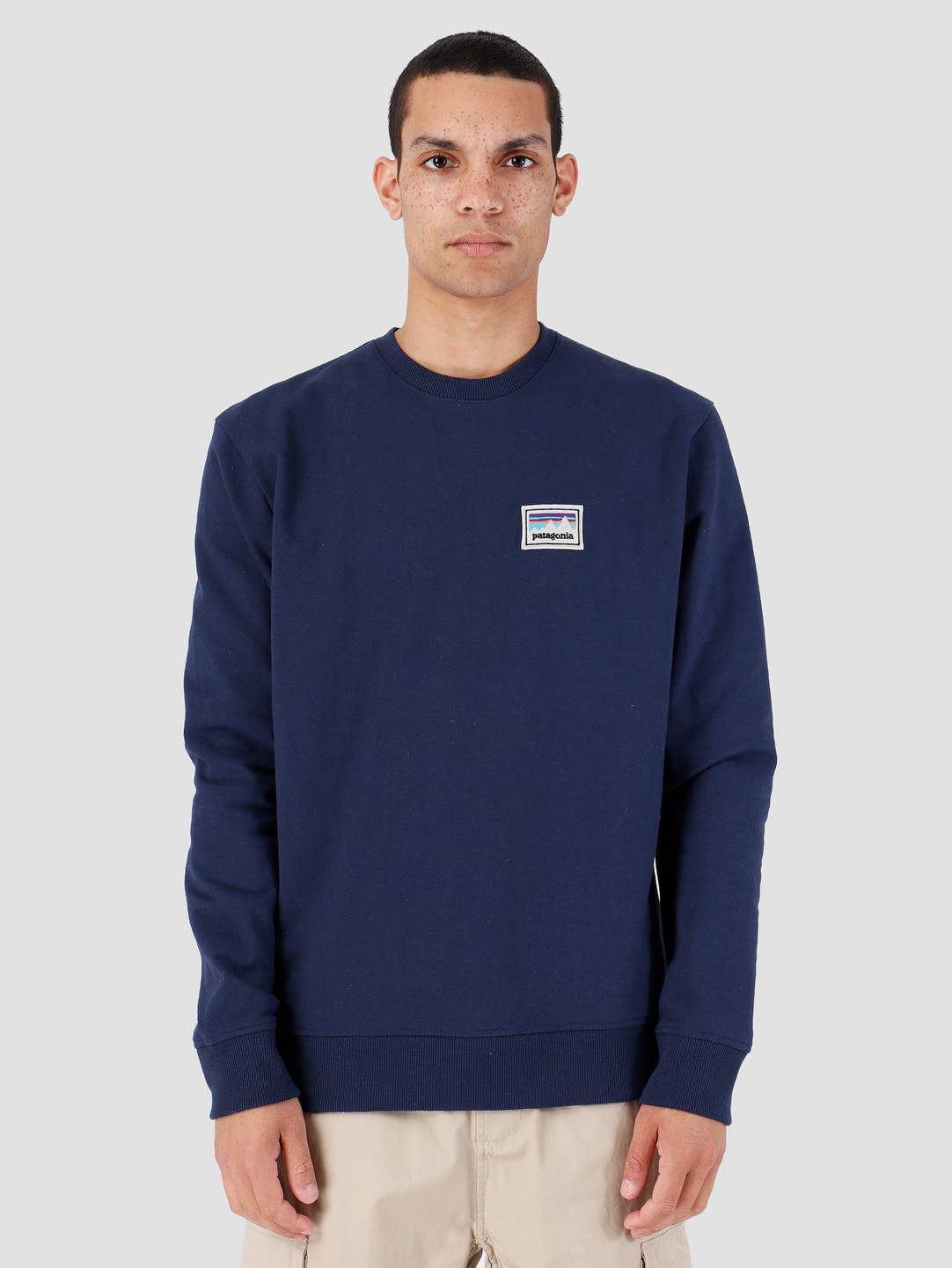 Patagonia Patagonia Shop Sticker Patch Uprisal Crew Sweatshirt Classic Navy 39541