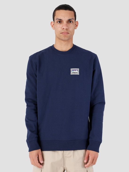 Patagonia Shop Sticker Patch Uprisal Crew Sweatshirt Classic Navy 39541