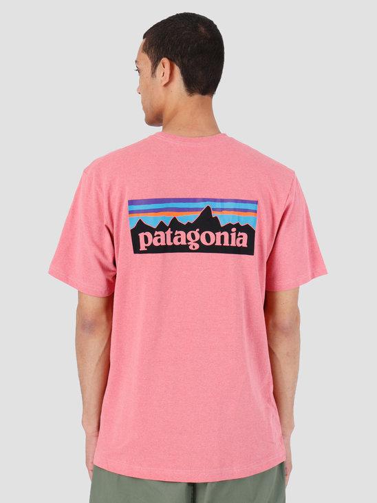 Patagonia P6 Logo Responsibili Tee Sticker Pink 39174