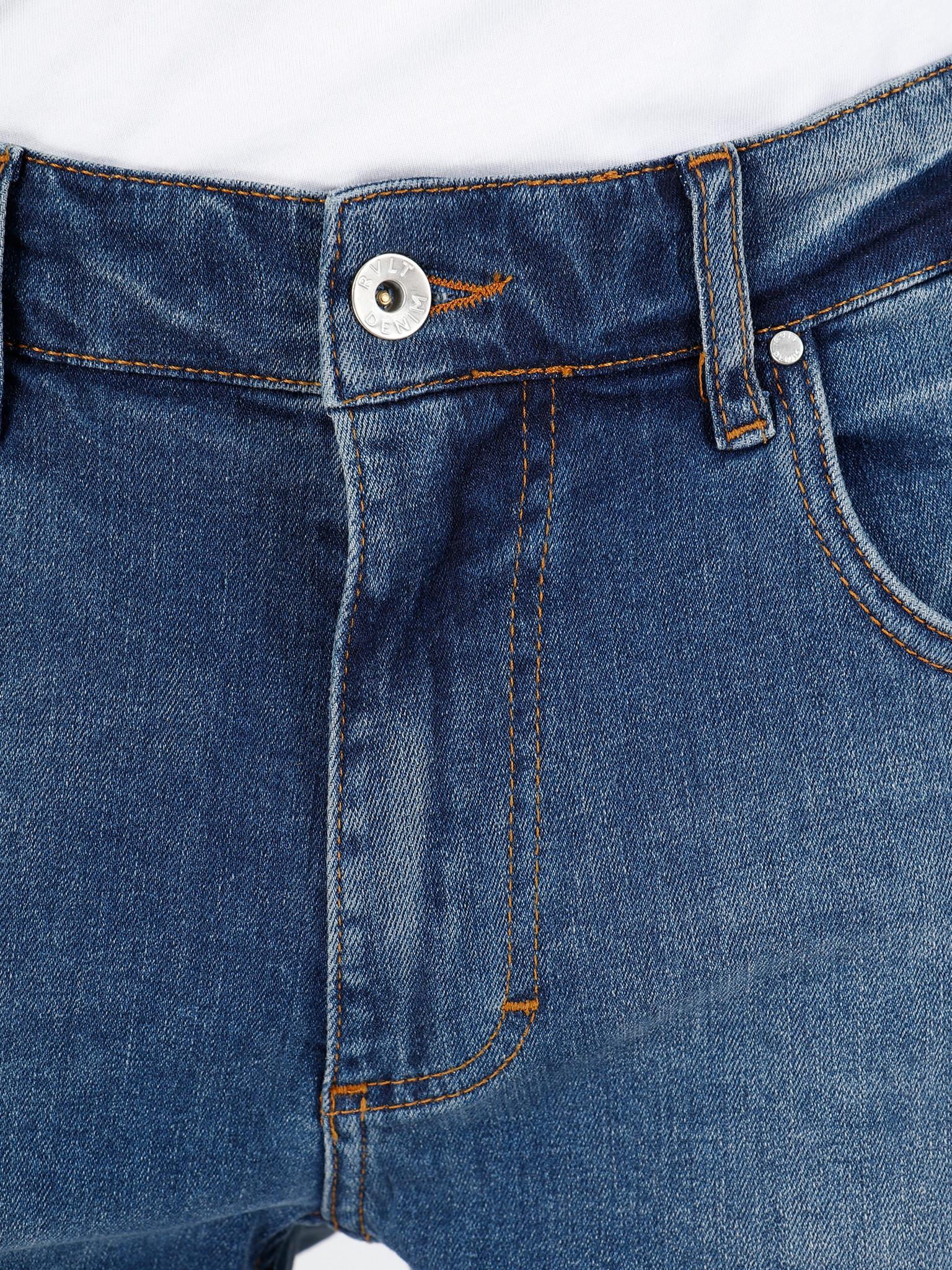 RVLT RVLT Destroyed Wash Shorts Light Blue 5403