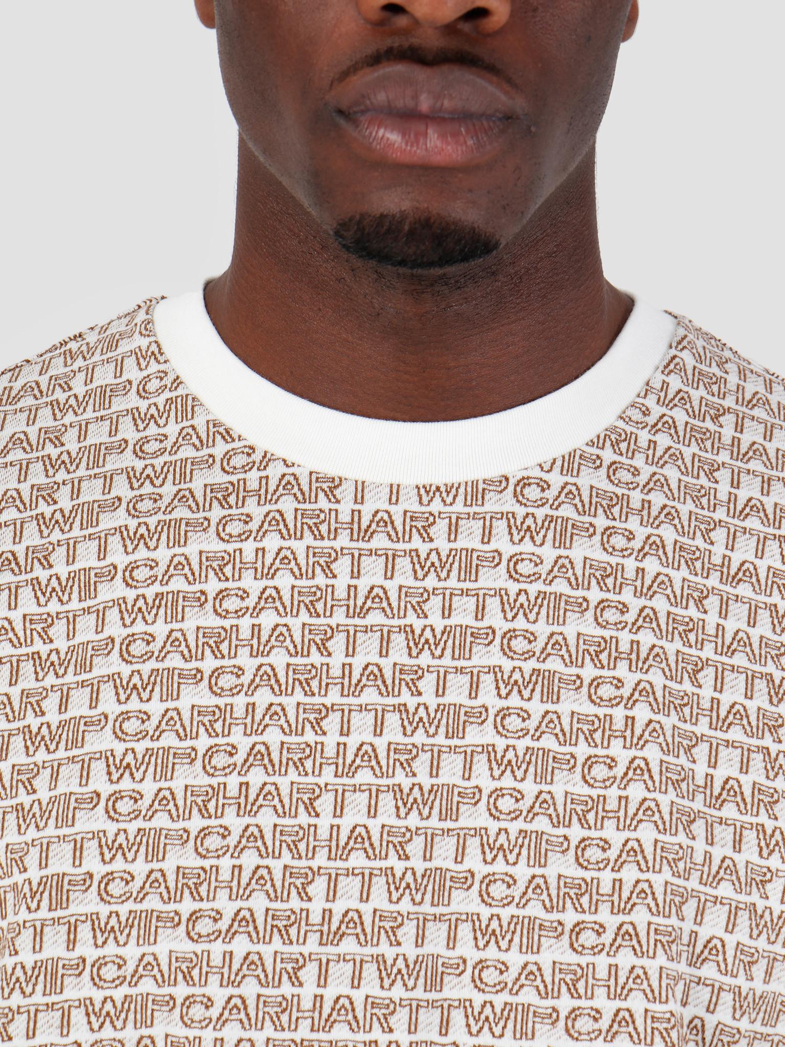 Carhartt WIP Carhartt WIP Short Sleeve Typo T-Shirt Typo Print Wax Hamilton Brown 61091000