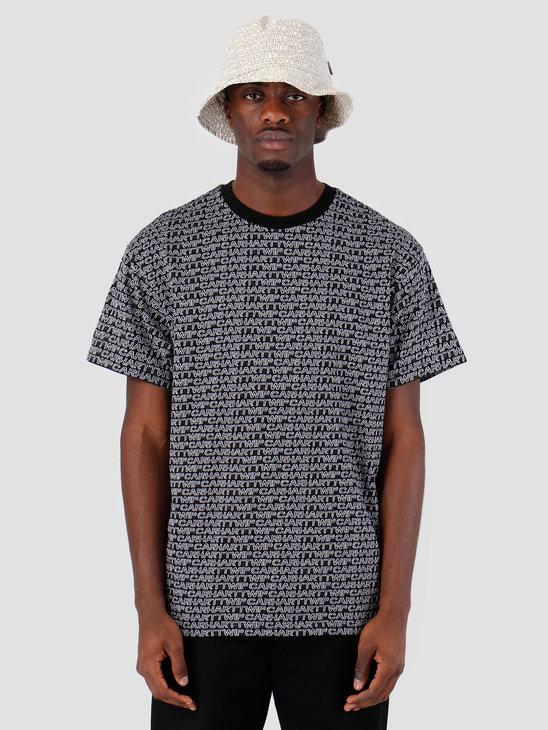 Carhartt WIP Short Sleeve Typo T-Shirt Typo Print Black White 61091000