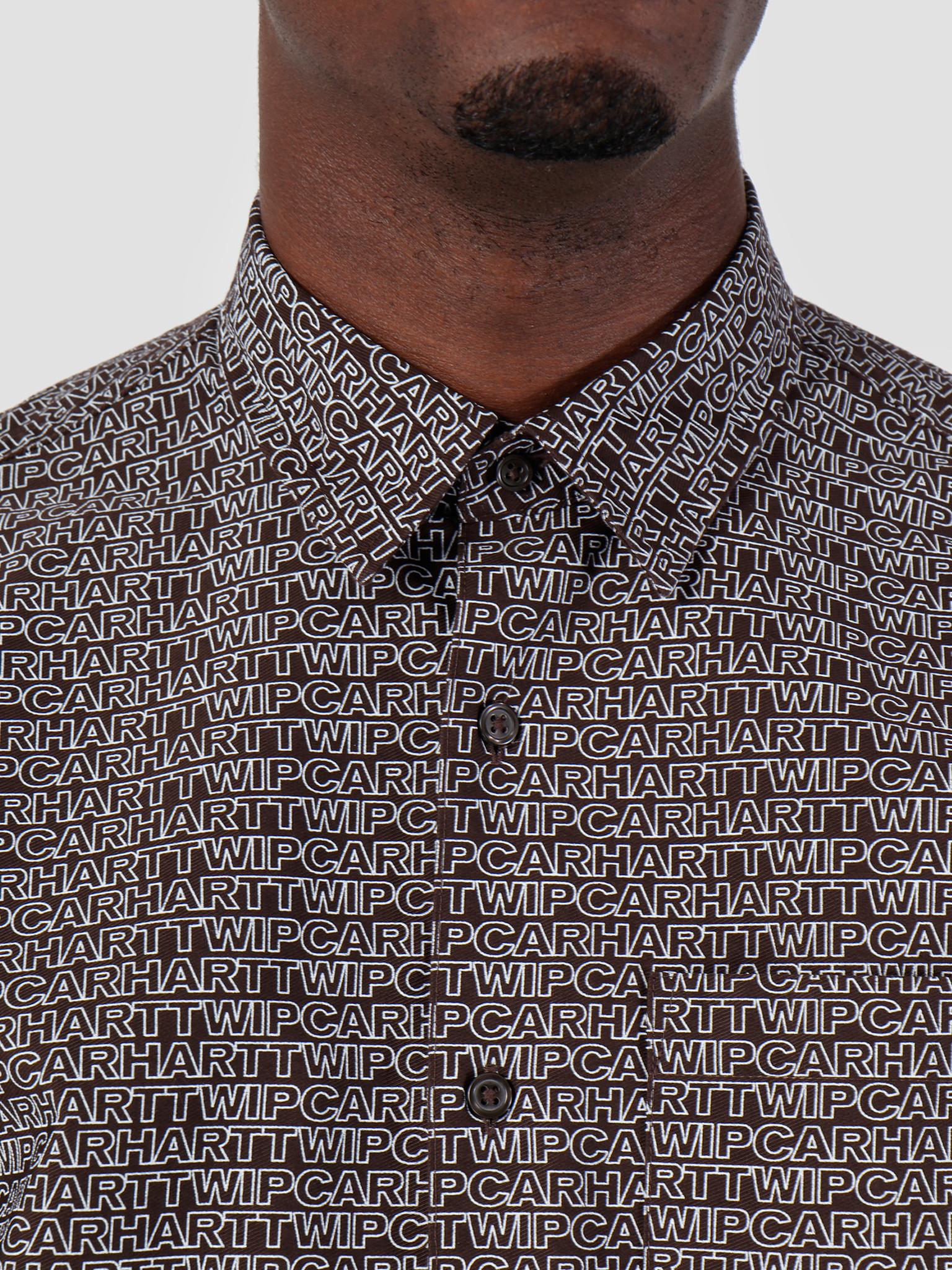 Carhartt WIP Carhartt WIP Short Sleeve Typo Shirt Typo Print Tobacco Wax 62052000