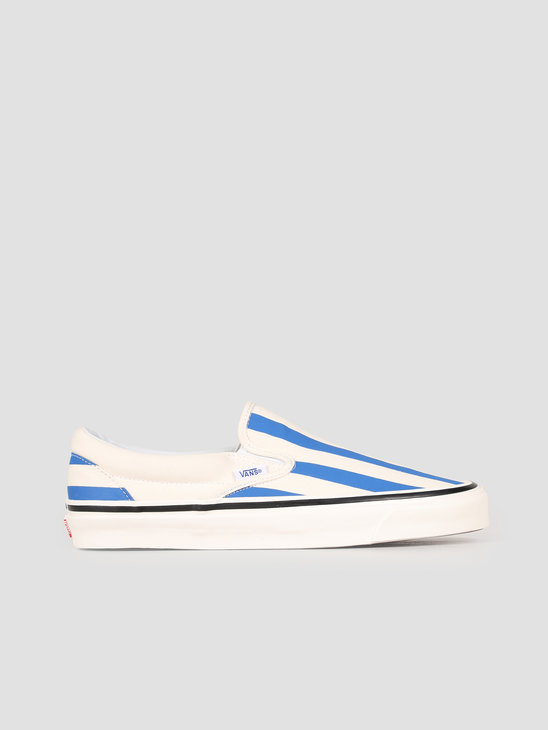 Vans UA Classic Slip-On 98 DX Anaheim OG White OG Blue Big Stripes Vn0A3Jexvn01