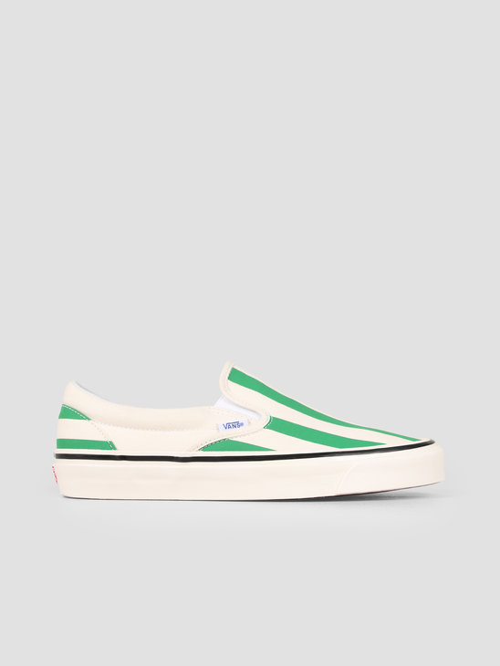 Vans UA Classic Slip-On 98 DX Anaheim OG White OG Emerald Big Stripes Vn0A3Jexvn11