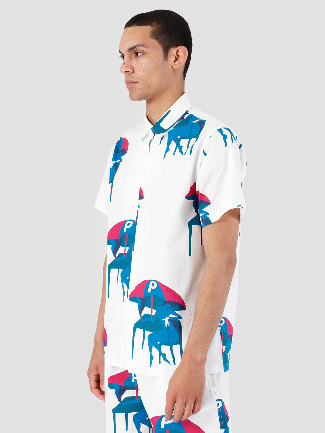 By Parra By Parra Camp Collar shirt Monaco Off White 42550