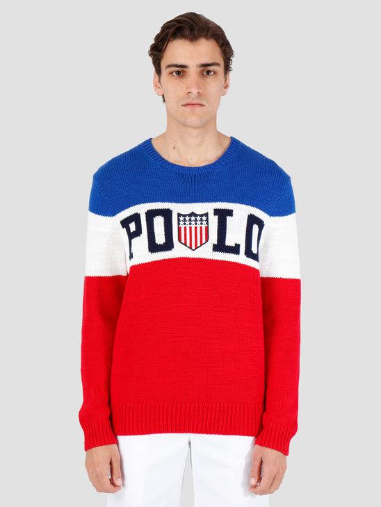 Polo Ralph Lauren Cotton Logo Cn Blue Mu 710745751001
