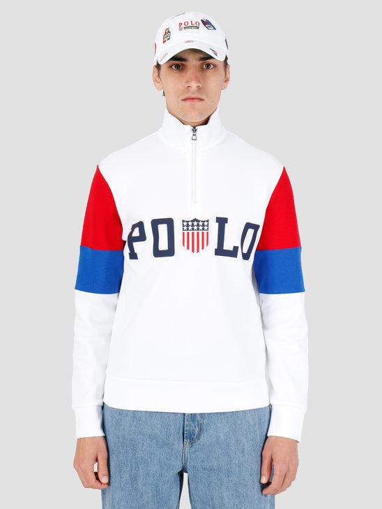 Polo Ralph Lauren Half Zip Sweater White Mu 710746547001