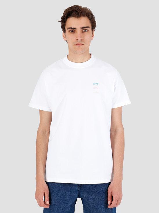 Arte Antwerp Troy Multi Logo White T-Shirt 3757089