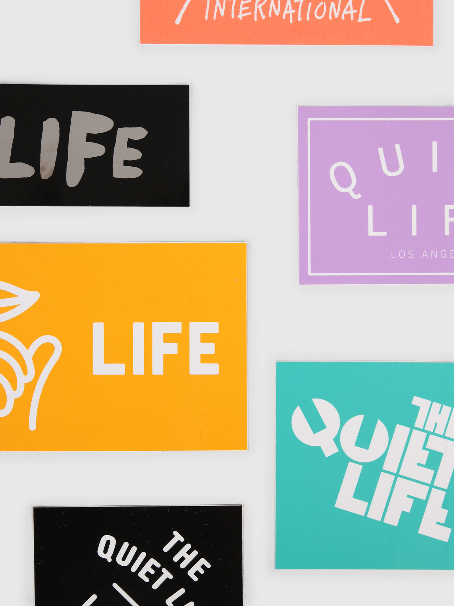 The Quiet Life The Quiet Life Sticker Pack Assorted 19SPD1-1250-SORT-OS