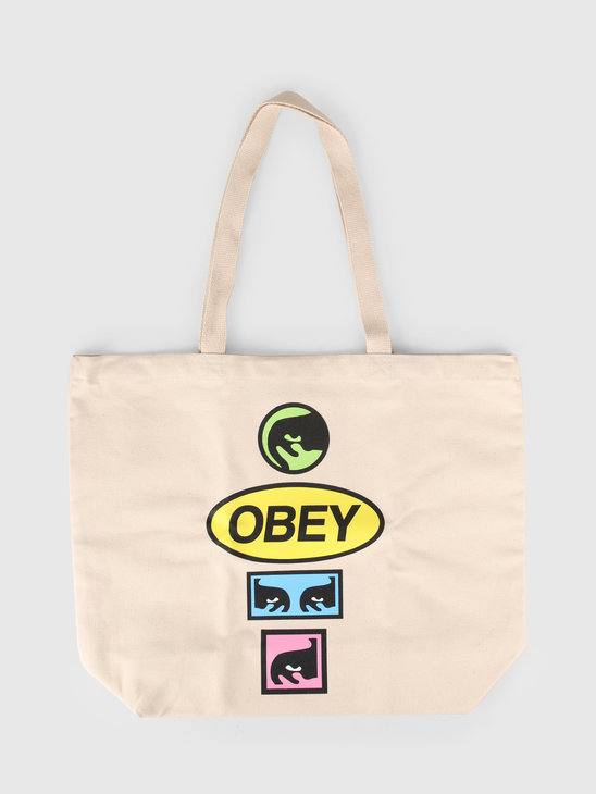 Obey Tote Bag Printable Natural 100551964-NAT