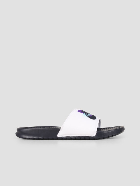 Nike Benassi White Obsidian Hyper Grape Hyper Jade CJ6184-100
