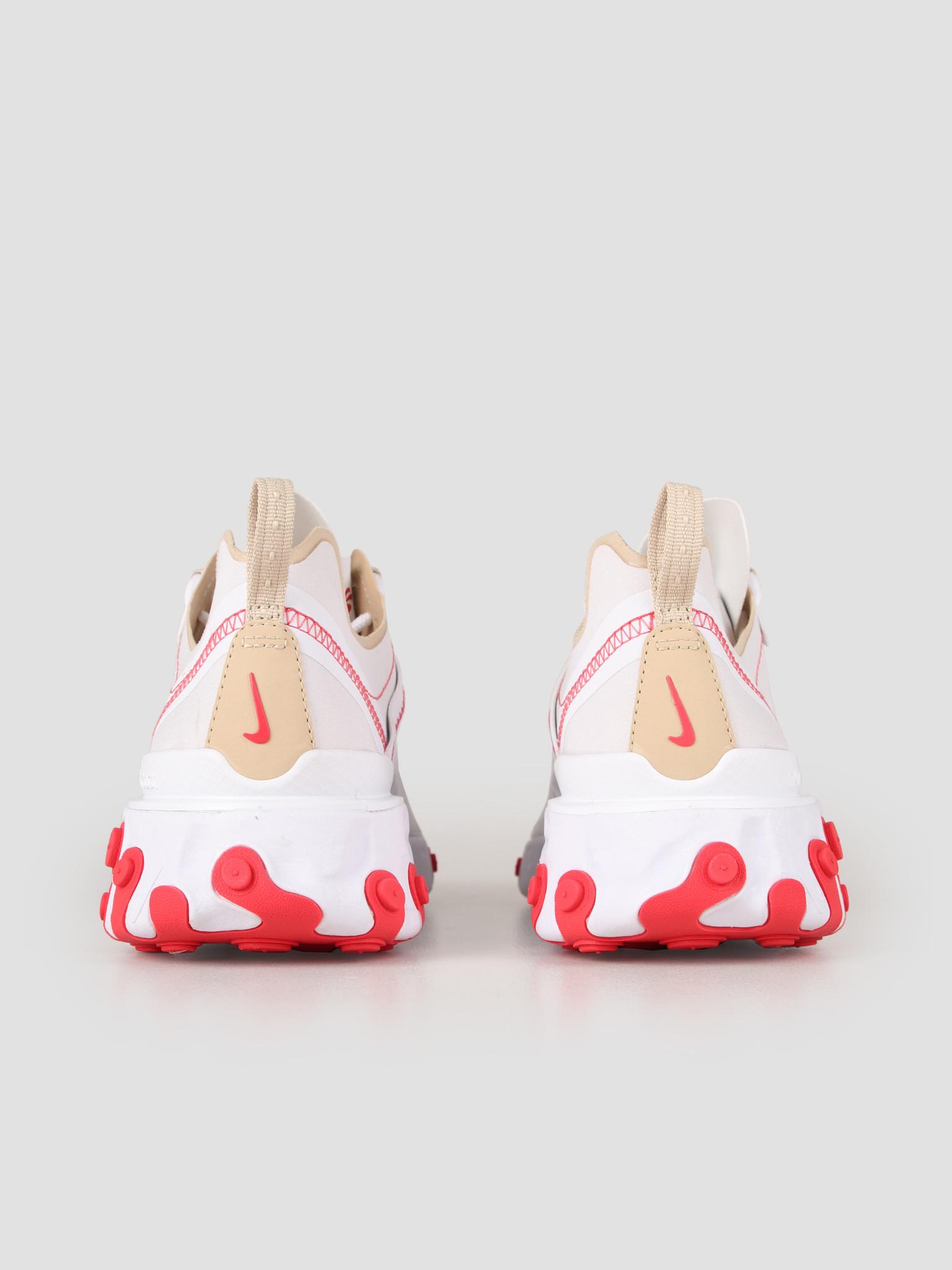Nike Nike React Element 55 White Desert Ore White Ember Glow BQ2728-101