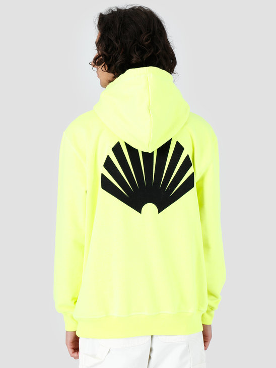 New Amsterdam Surf association Logo Hoodie Safety Green 2018007