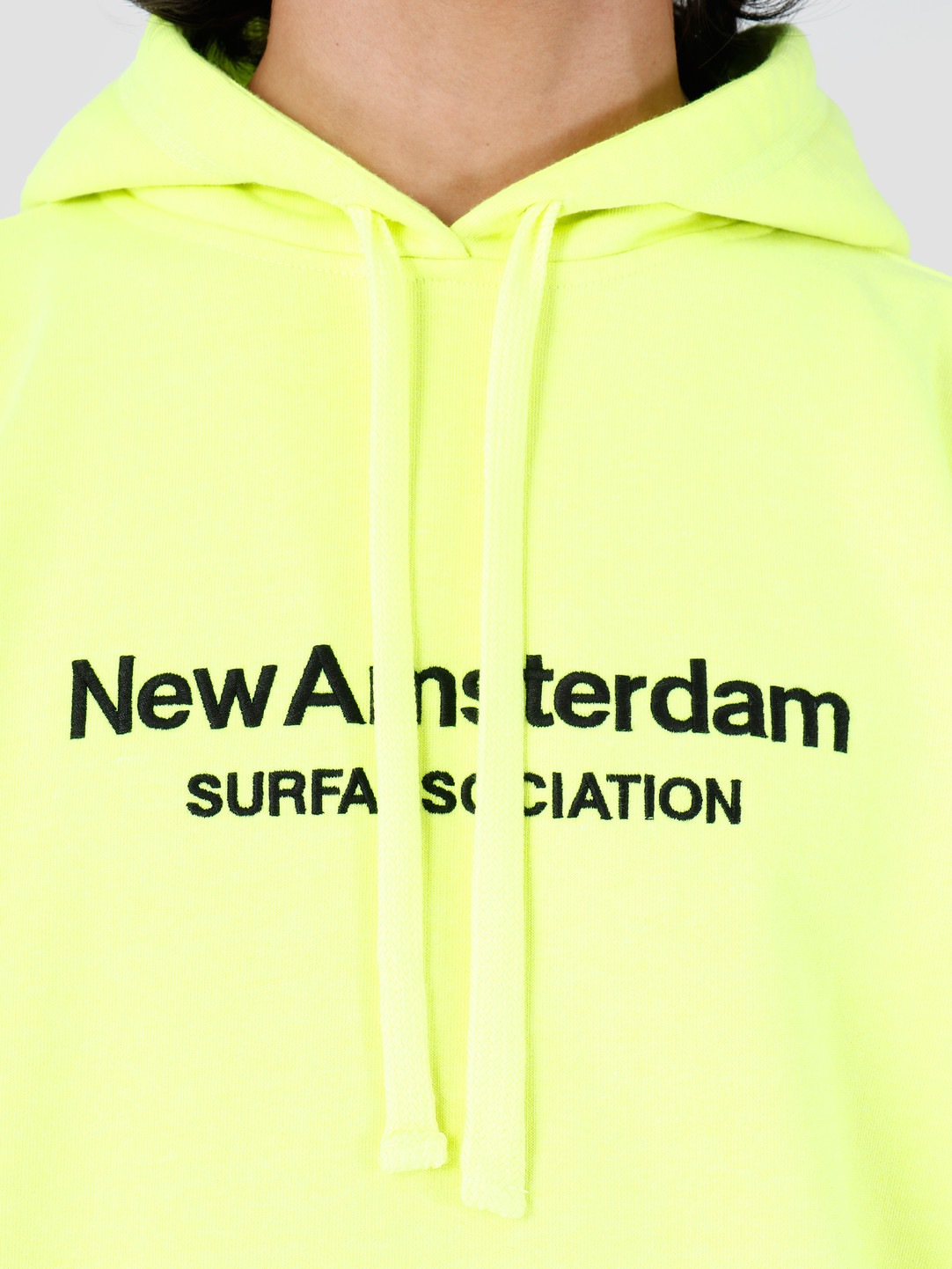 New Amsterdam Surf association New Amsterdam Surf association Logo Hoodie Safety Green 2018007