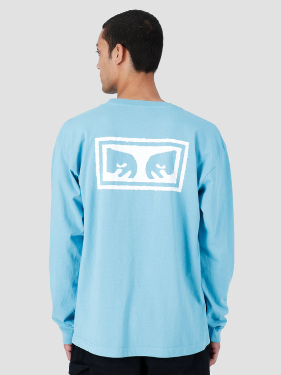 Obey Eyes 3 Heavyweight Classic Custom Longsleeve Pool 167101826-POL