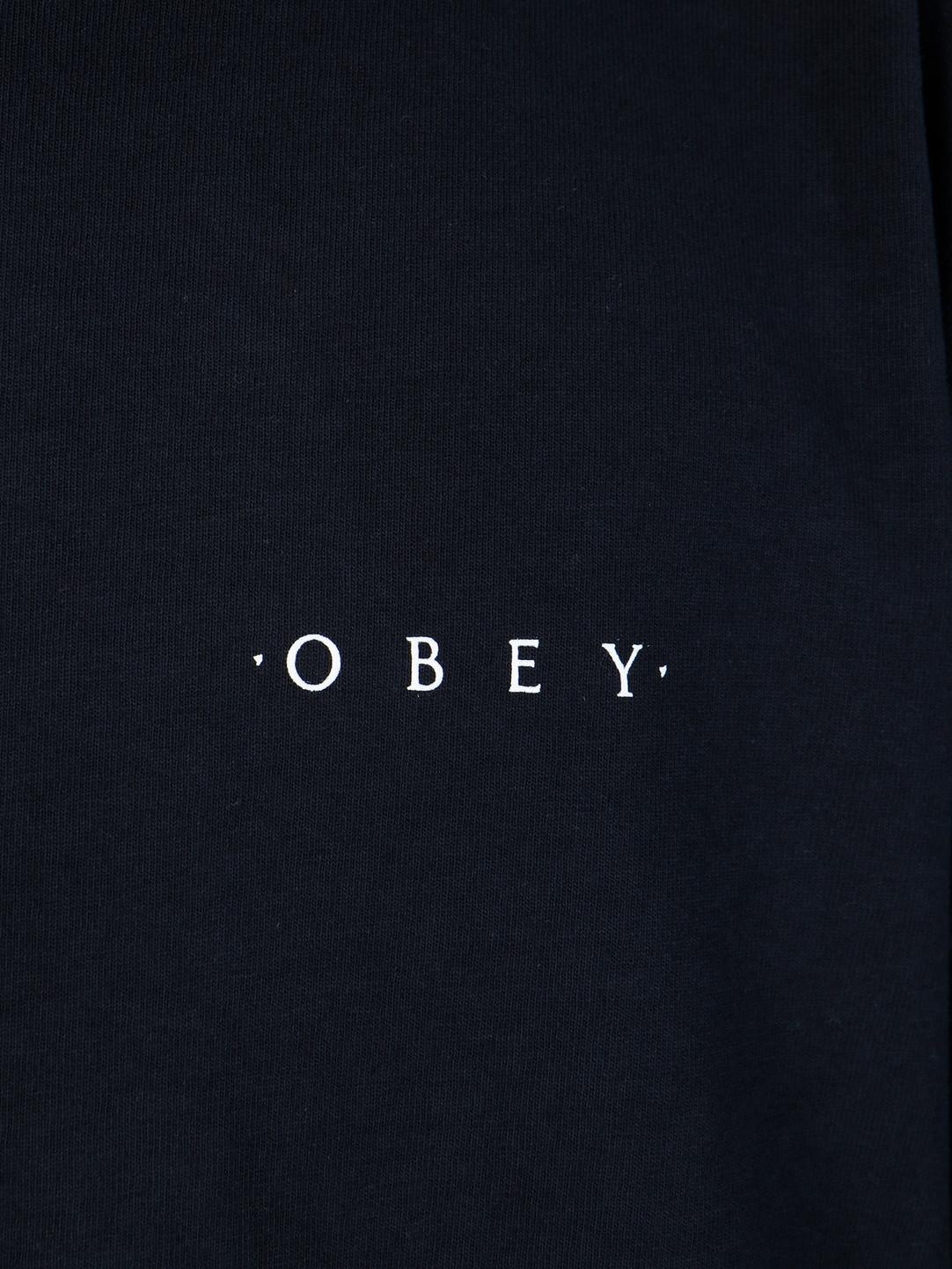 Obey Obey Heavyweight Classic Custom Longsleeve Off Black 167101838-OBK