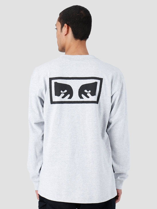 Obey Heavyweight Classic Custom Longsleeve Heather Grey 167101826-HEA