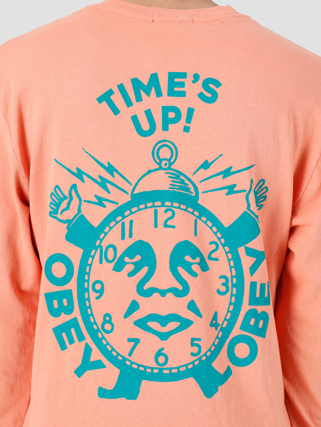 Obey Obey Time'S Up Pigment Longsleeve Dusty Raw Terracotta 166731974-TER