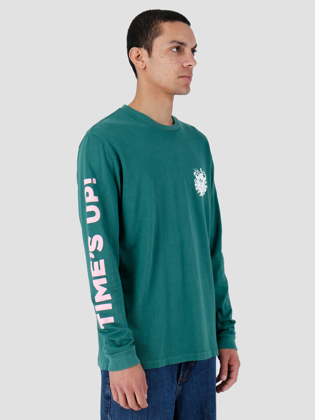 Obey Obey Time'S Up Pigment Longsleeve Dusty Ivy Green 166731974-IVY