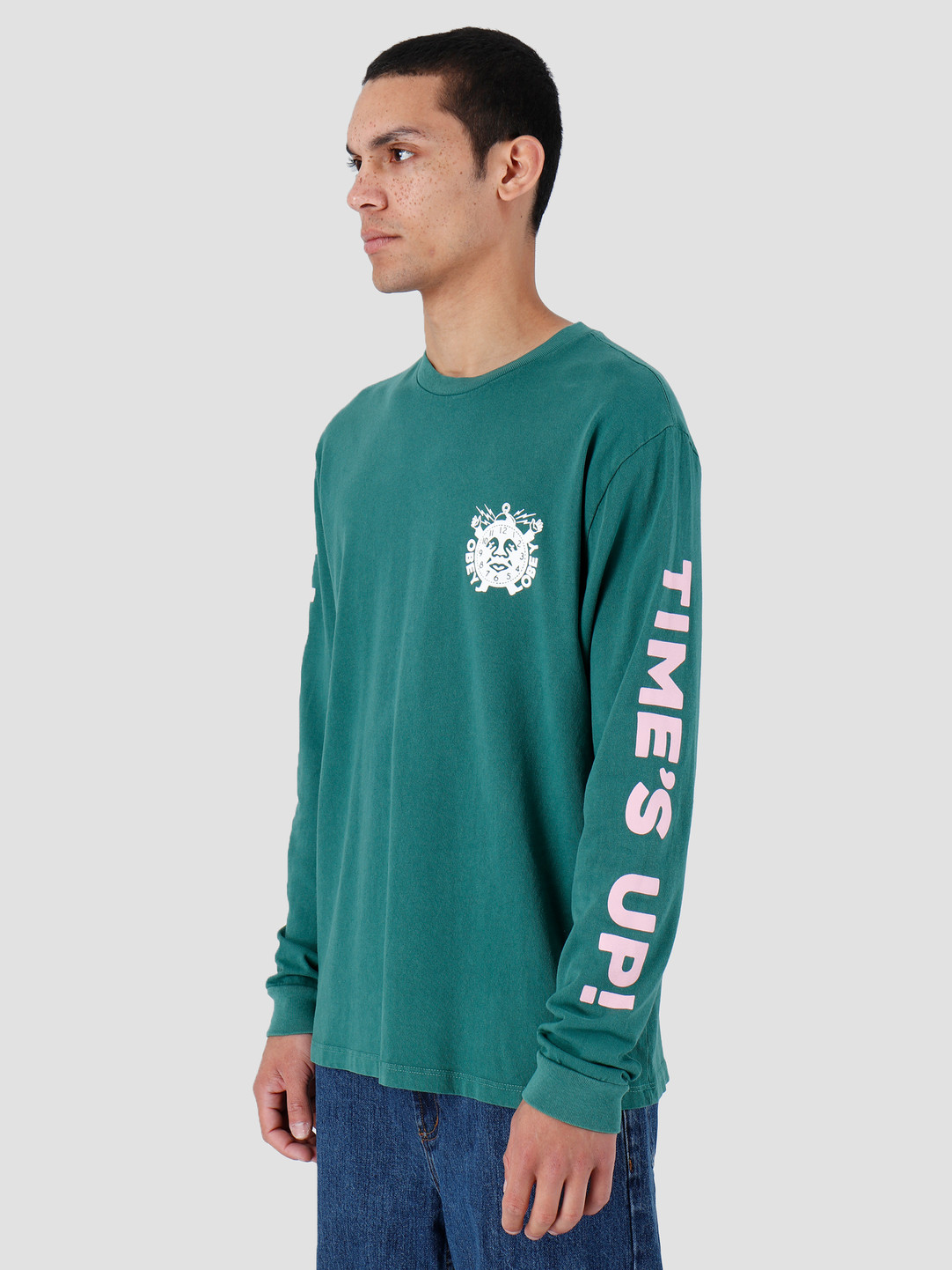 Obey Obey Basic Pigment Longsleeve Shirt Dusty Ivy Green 166731974-IVY