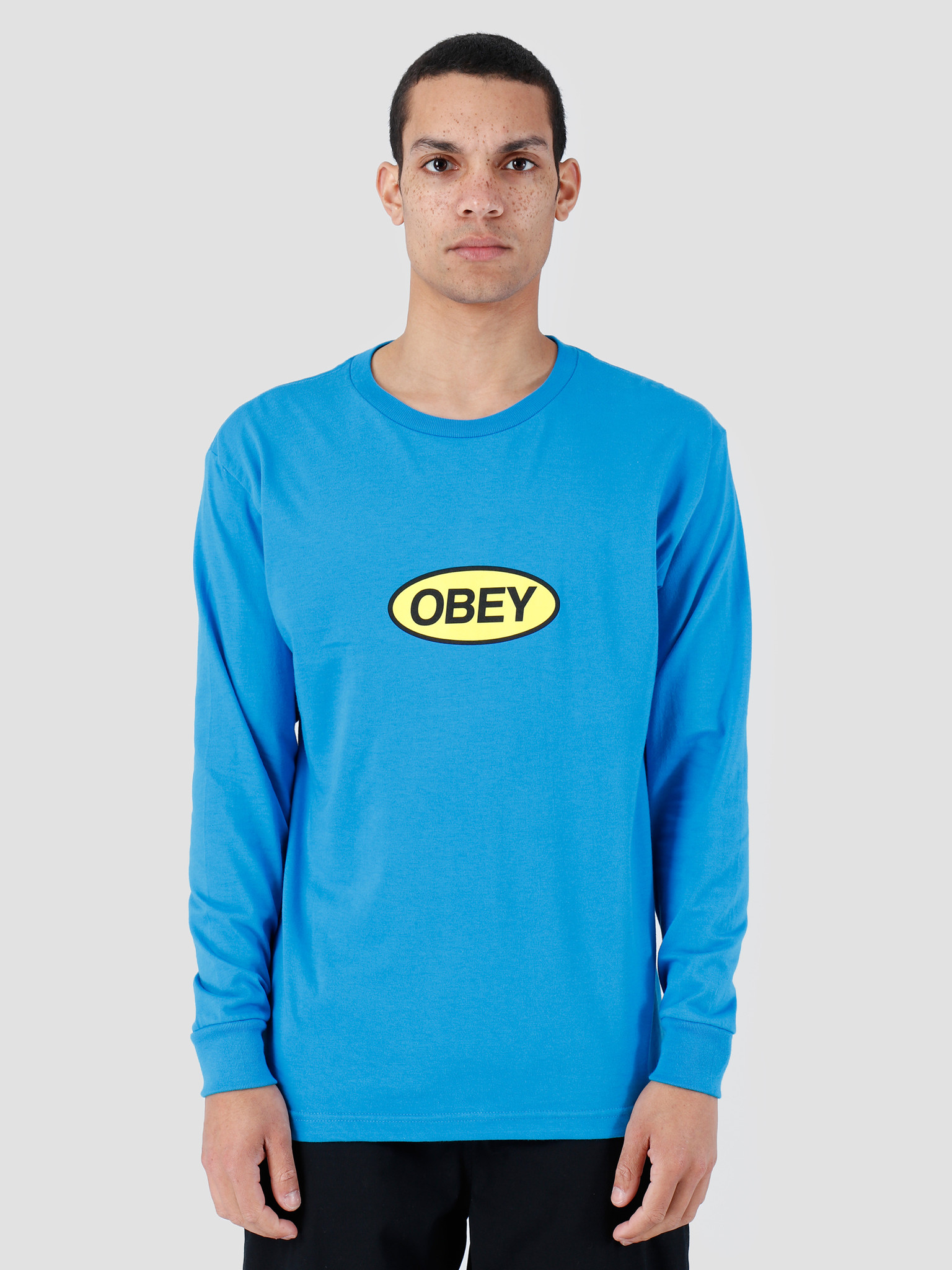 Obey Obey Stacked Longsleeve Sky Azure 164901964-SKY