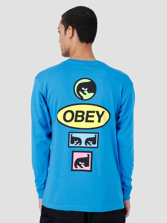 Obey Basic Longsleeve Shirt Sky Azure 164901964-SKY
