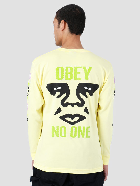 Obey Basic Longsleeve Shirt Lemon 164901979-LEM