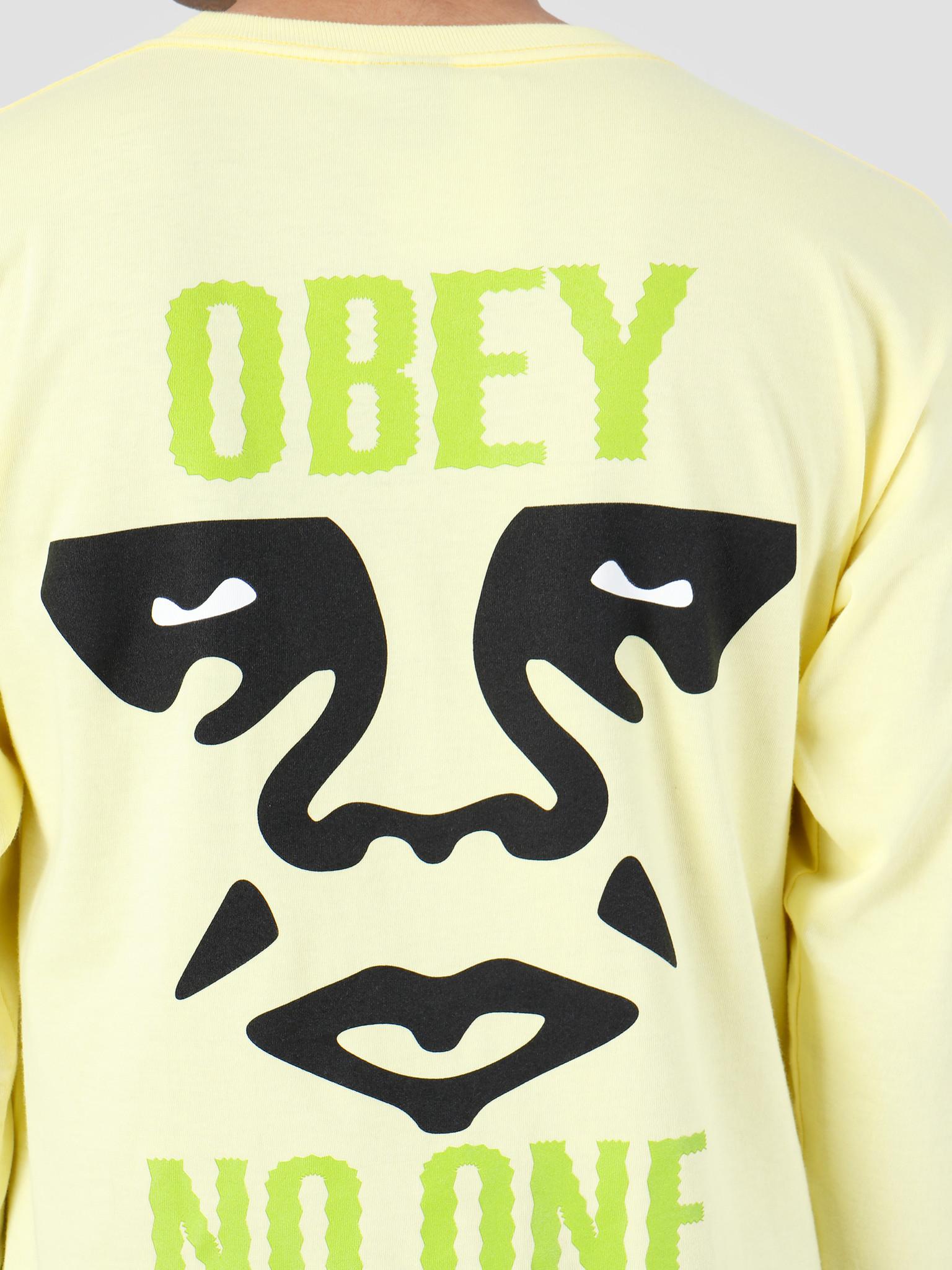 Obey Obey Act Up Longsleeve Lemon 164901979-LEM