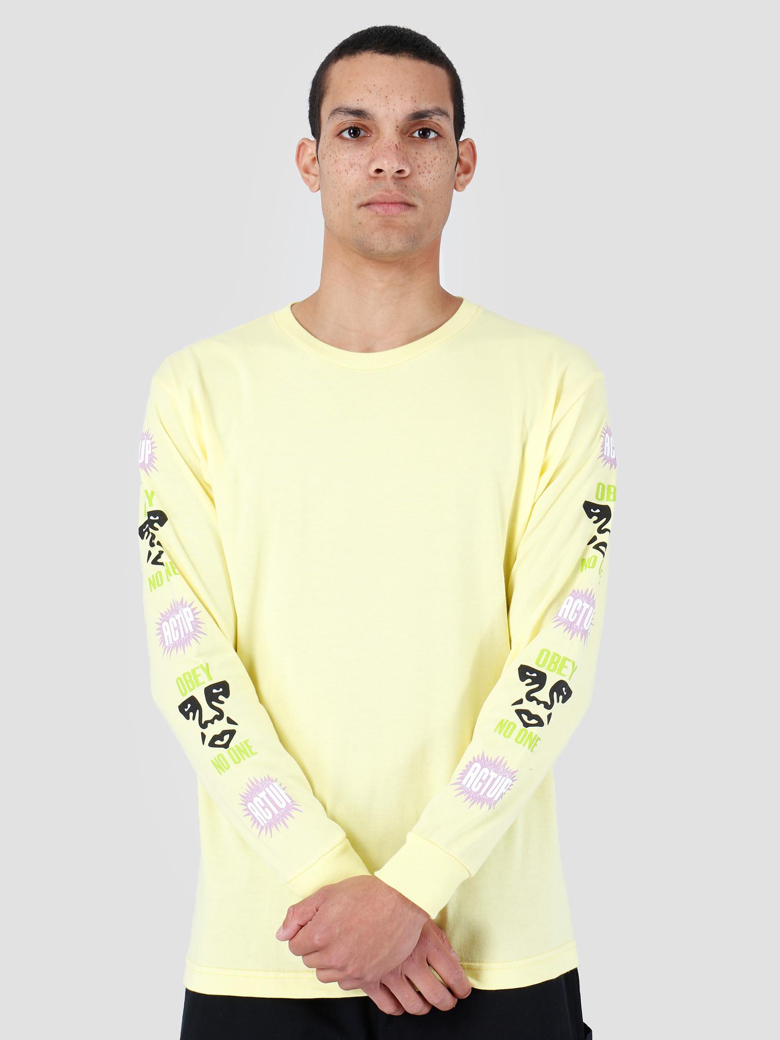 Obey Obey Basic Longsleeve Shirt Lemon 164901979-LEM