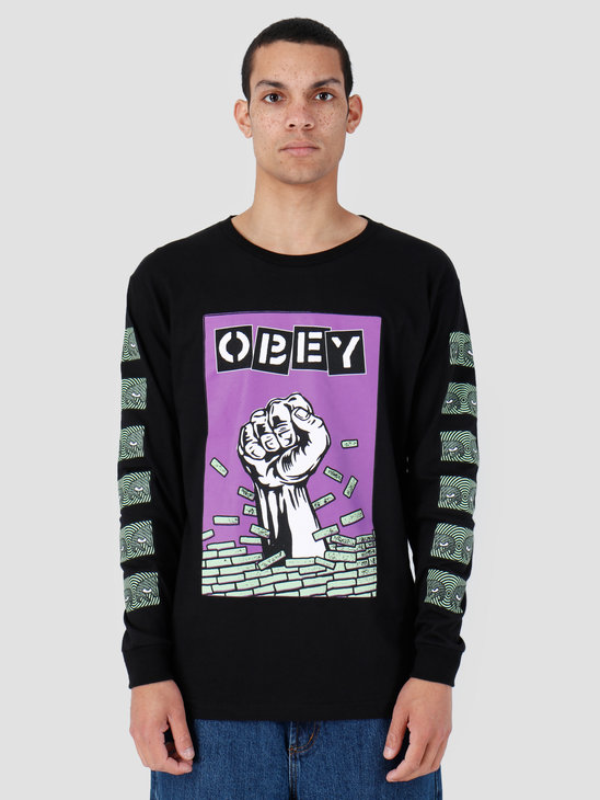 Obey Bust Out Longsleeve Black 164901986-BLK