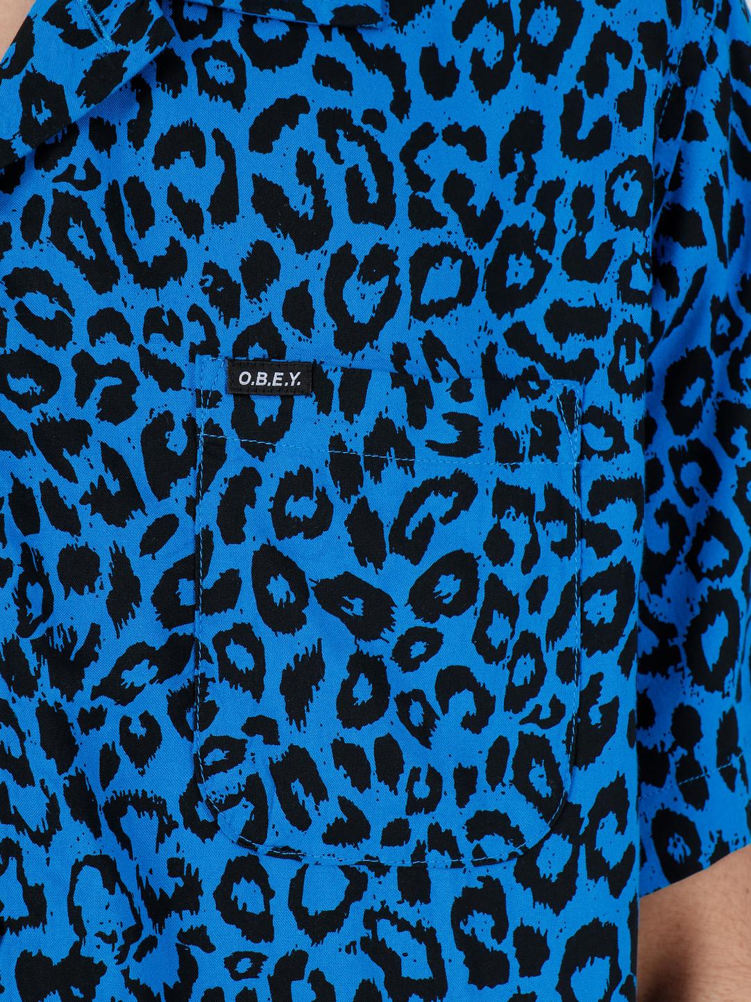 Obey Obey Shortsleeve Woven Sky Blue Multi 181210247-SKY
