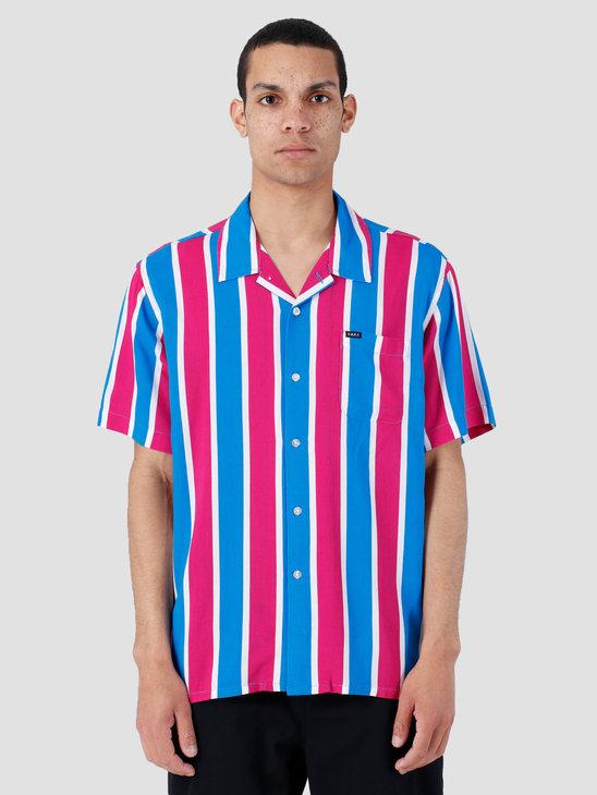 Obey Sutter Stripe Woven T-Shirt Fuchsia Multi 181210245-FUS