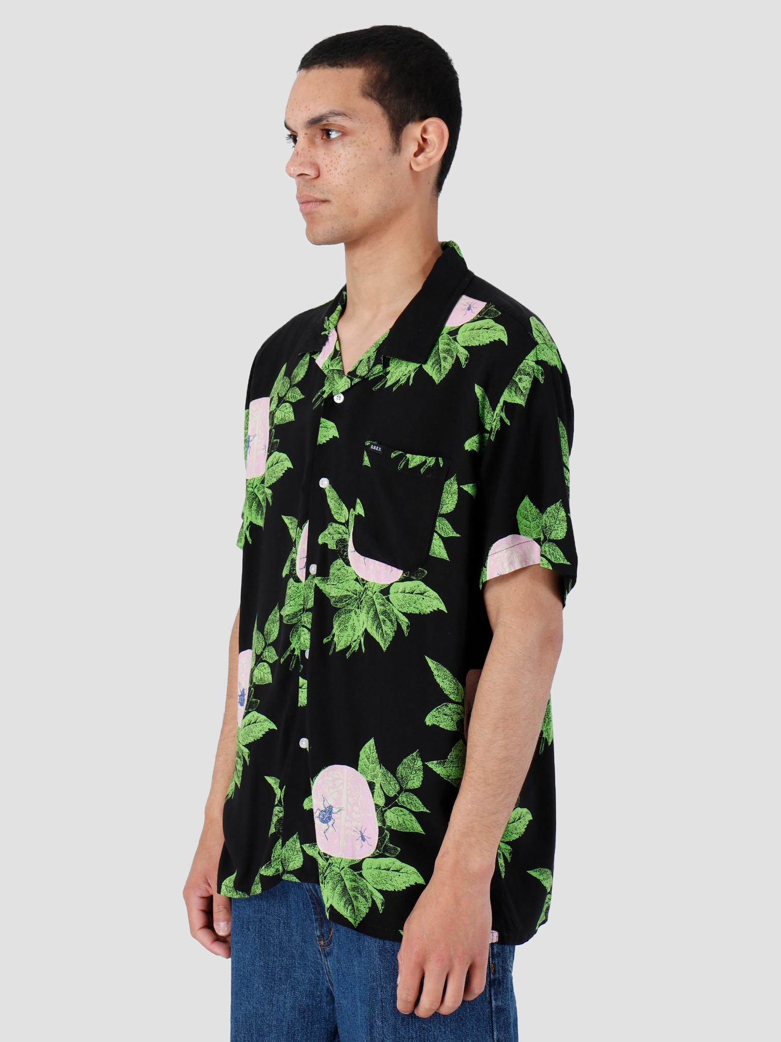 Obey Obey Brainiac Woven T-Shirt Black Multi 181210248-BKM