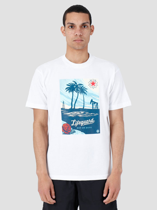 Obey Lifeguard Not On Duty T-Shirt White 167292004-WHT