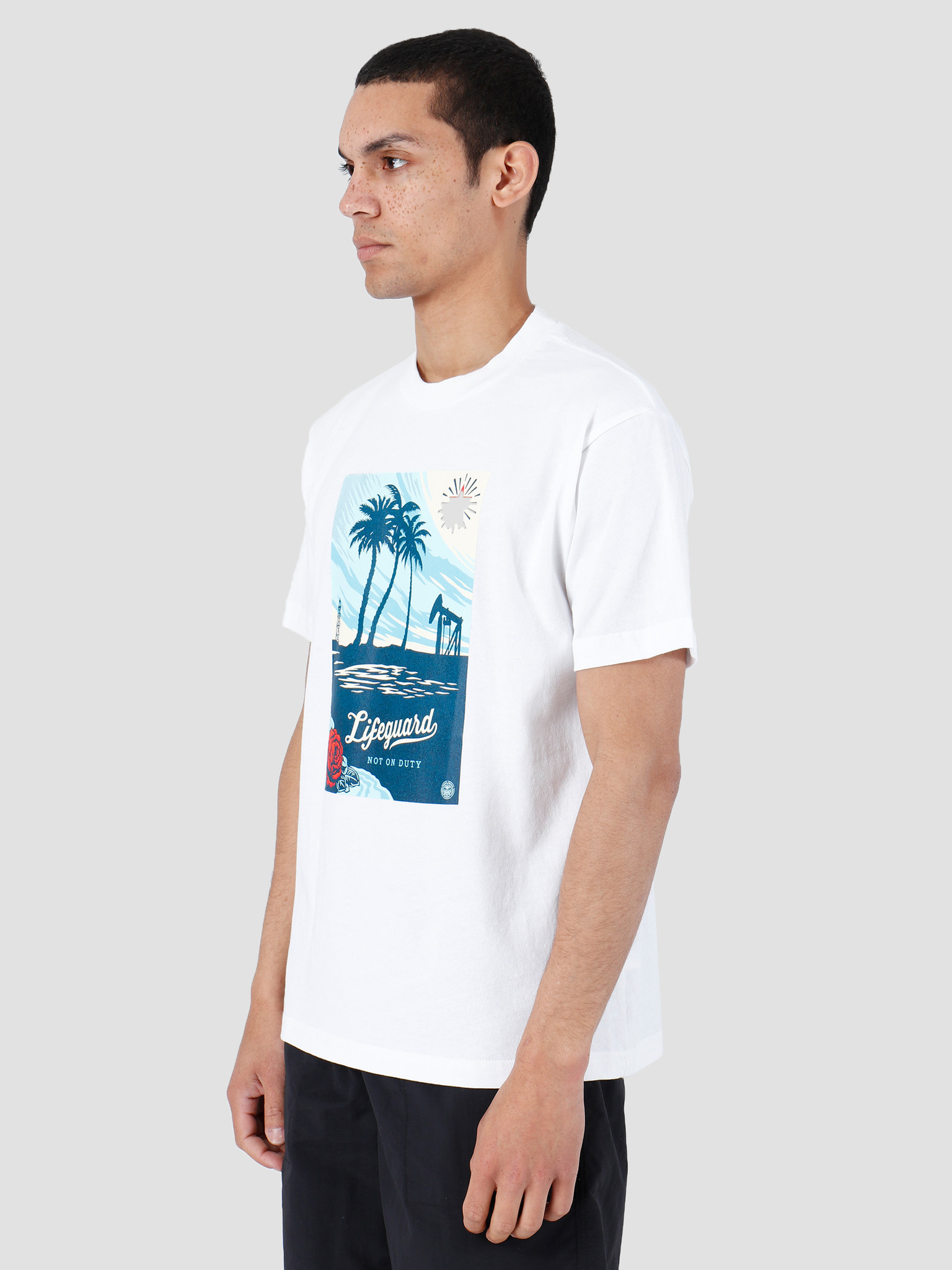 Obey Obey Lifeguard Not On Duty T-Shirt White 167292004-WHT