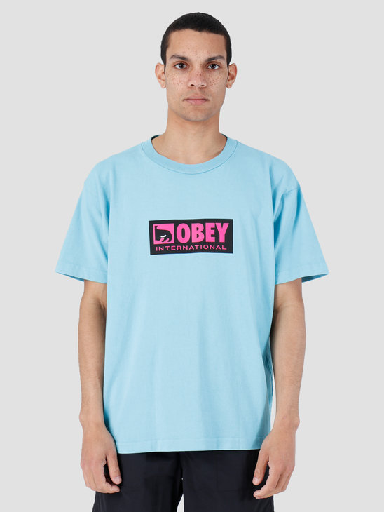 Obey International Icon 2 Heavy Weight Classic Box T-Shirt Pool 166911960-POL