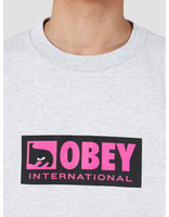 Obey Obey International Icon 2 Heavy Weight Classic Box T-Shirt Heather Grey 166911960-HEA