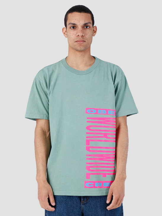 Obey Heavy Weight Classic Box T-Shirt Atlantic Green 166911983-ATL