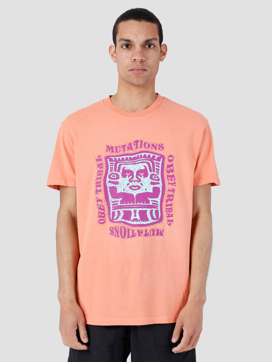Obey Basic Pigment T-Shirt Dusty Raw Terracotta 166721897-TER